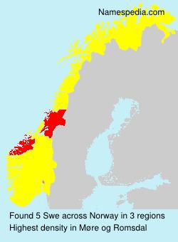 Surname Swe in Norway