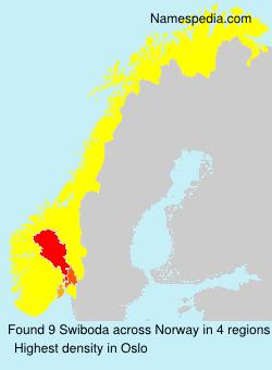 Familiennamen Swiboda - Norway