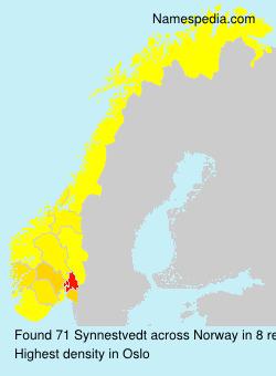 Surname Synnestvedt in Norway