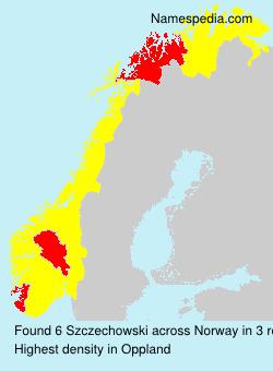 Surname Szczechowski in Norway
