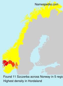 Surname Szczerba in Norway