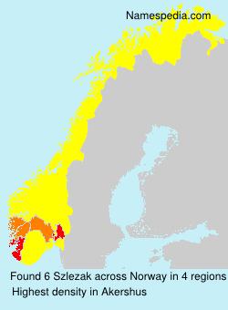 Familiennamen Szlezak - Norway