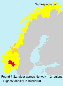 Surname Sznajder in Norway