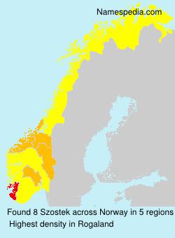 Surname Szostek in Norway