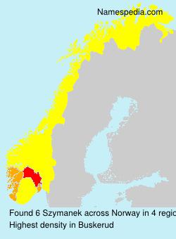 Surname Szymanek in Norway