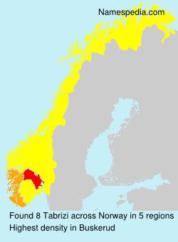 Familiennamen Tabrizi - Norway