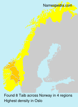 Surname Taib in Norway