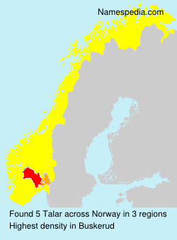 Surname Talar in Norway