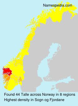 Familiennamen Talle - Norway