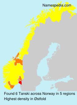 Familiennamen Tanski - Norway