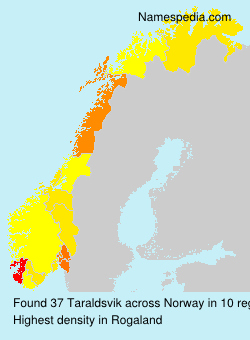 Surname Taraldsvik in Norway