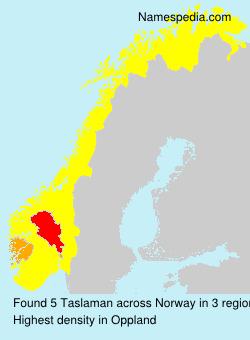 Surname Taslaman in Norway