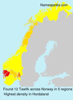 Surname Tawfik in Norway