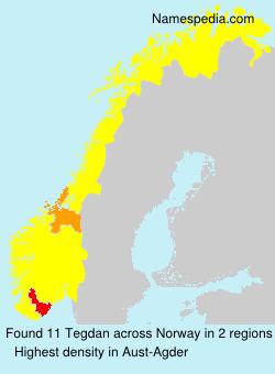Familiennamen Tegdan - Norway