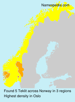 Surname Teklit in Norway