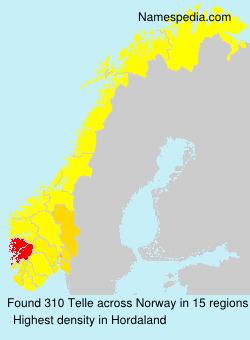 Surname Telle in Norway