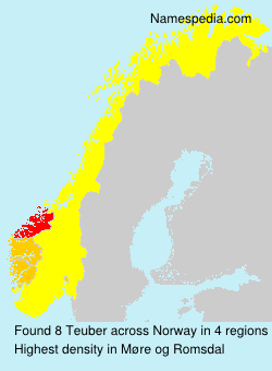Surname Teuber in Norway