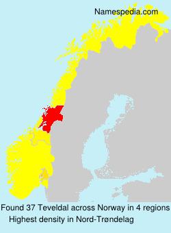 Surname Teveldal in Norway