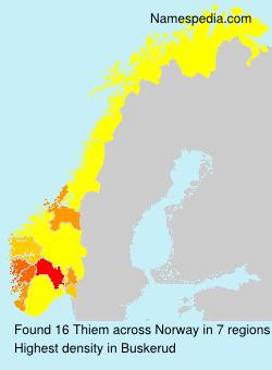 Surname Thiem in Norway