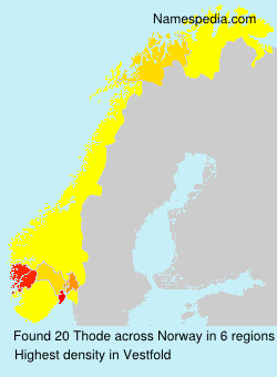 Surname Thode in Norway