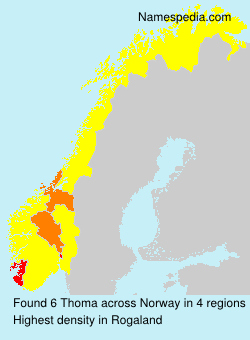 Surname Thoma in Norway