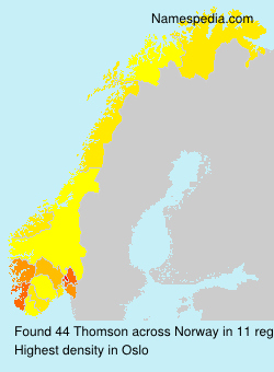 Surname Thomson in Norway
