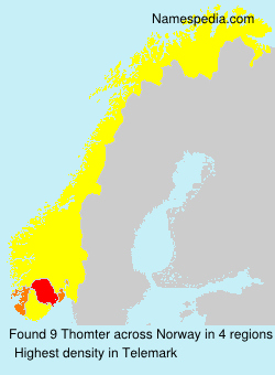 Surname Thomter in Norway