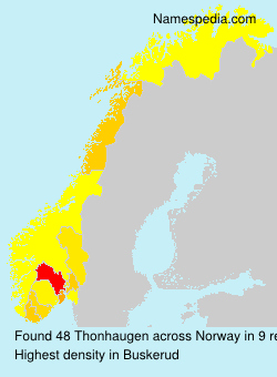 Surname Thonhaugen in Norway