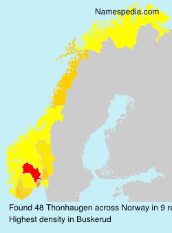 Surname Thonhaugen in Norway