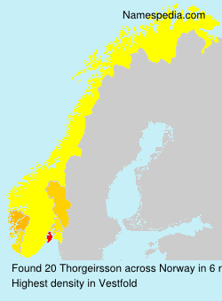 Surname Thorgeirsson in Norway