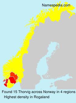 Familiennamen Thorvig - Norway