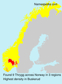 Surname Thrygg in Norway
