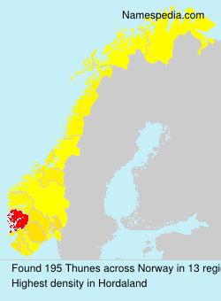 Surname Thunes in Norway