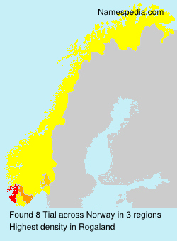 Surname Tial in Norway