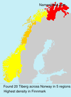 Surname Tiberg in Norway