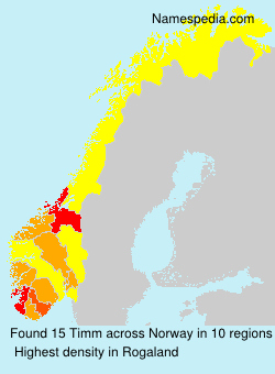 Surname Timm in Norway