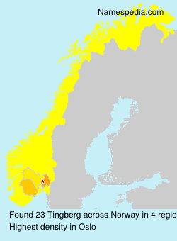 Surname Tingberg in Norway