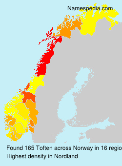 Surname Toften in Norway