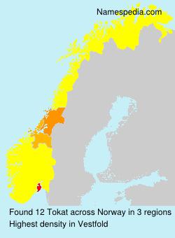Familiennamen Tokat - Norway