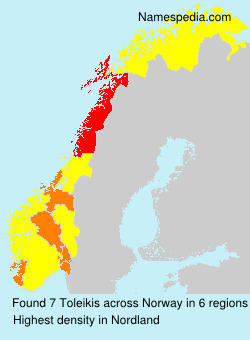 Surname Toleikis in Norway