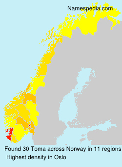Surname Toma in Norway