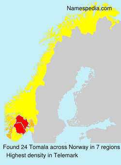 Surname Tomala in Norway