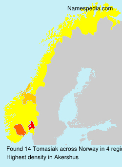 Surname Tomasiak in Norway