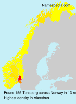 Surname Tonsberg in Norway