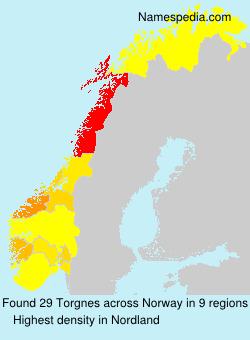 Surname Torgnes in Norway