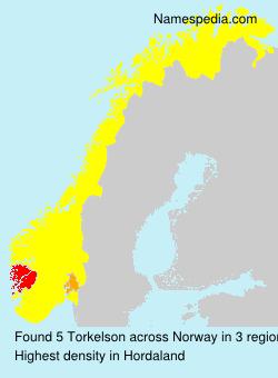 Surname Torkelson in Norway
