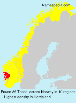 Surname Tosdal in Norway