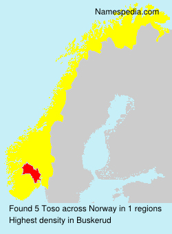 Surname Toso in Norway