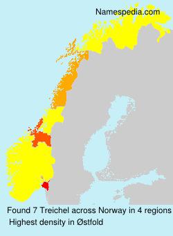Familiennamen Treichel - Norway