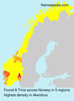 Familiennamen Trine - Norway